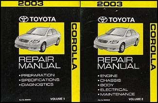 Cool 2003 Toyota Corolla Repair Shop Manual 2 Volume Set Wiring 101 Tzicihahutechinfo