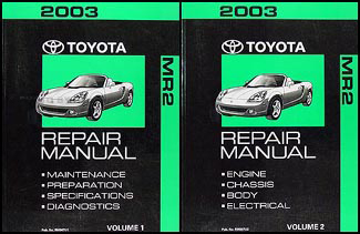 2003 Toyota MR2 Spyder Repair Manual Original
