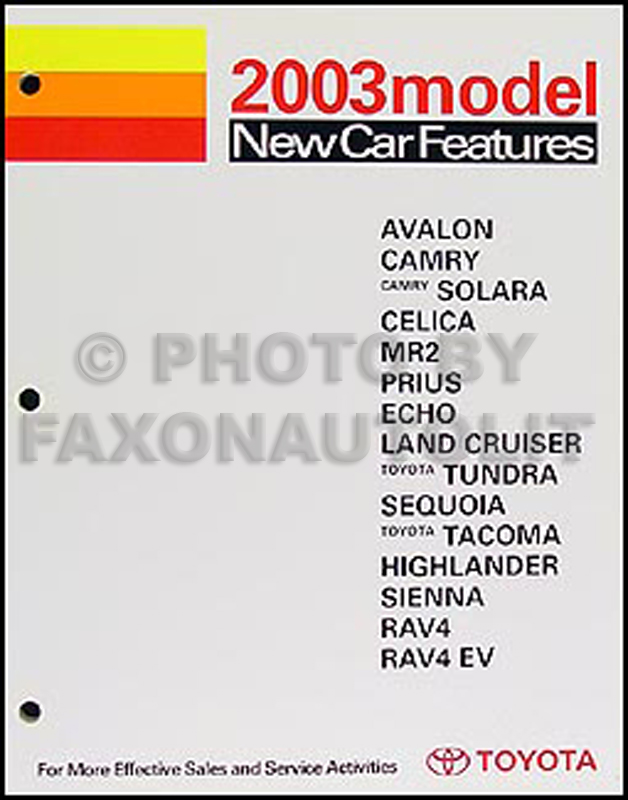 2003 Toyota Camry Wiring Diagram Manual Original All 6 Cyl And Mid Year California 4 Cyl
