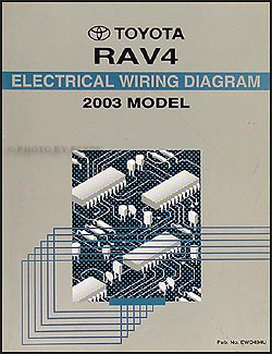 2003 Toyota RAV4 Wiring Diagram Manual OriginalFaxon Auto Literature
