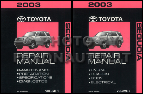 2003 toyota sequoia wiring diagram manual original rh faxonautoliterature com 05 Toyota Tacoma 4 0 Diagram 2007 Toyota Yaris Diagrams