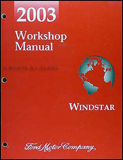 2003 Ford Windstar Repair Manual Original