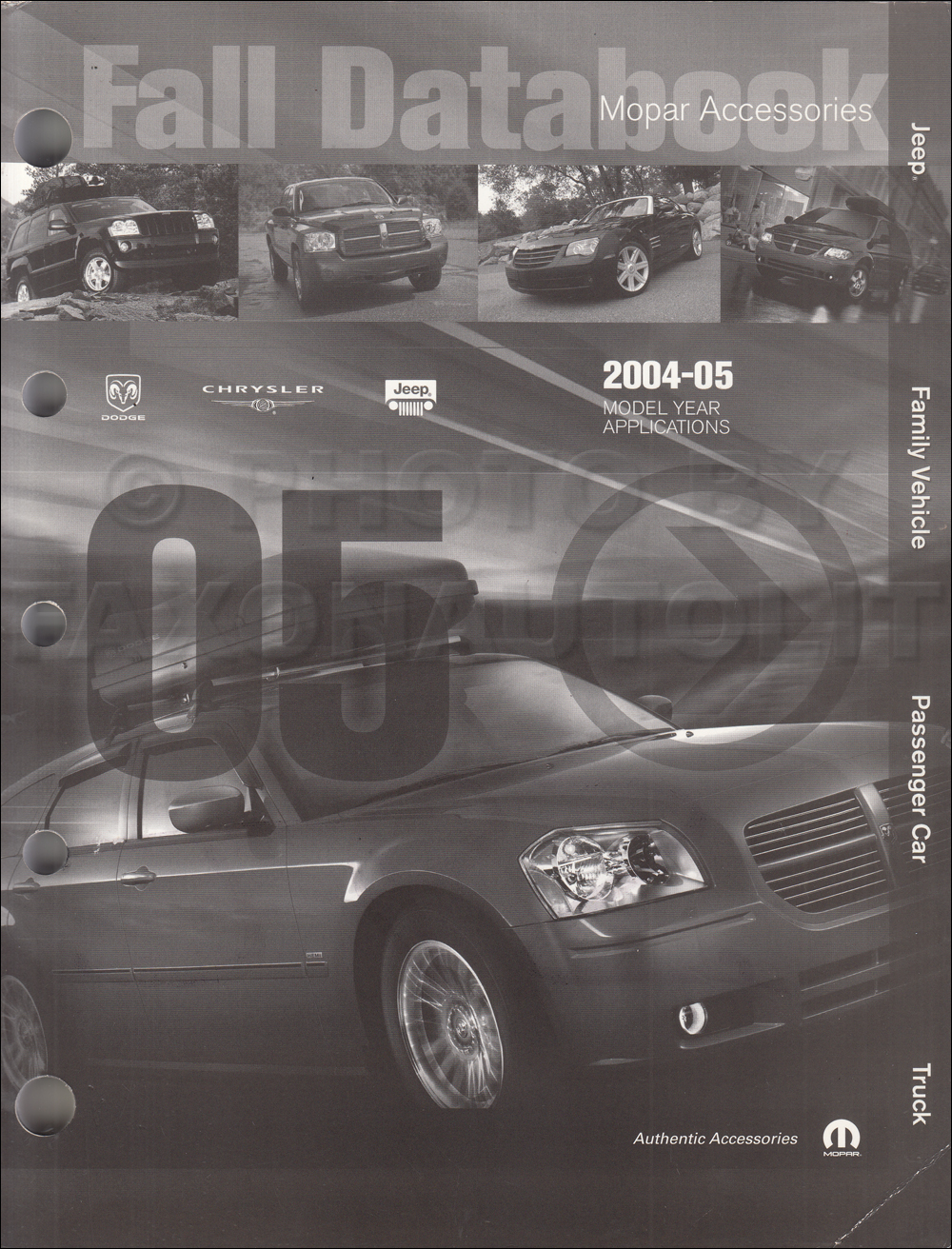 2004-2005 MoPar Accessories Databook Original Fall