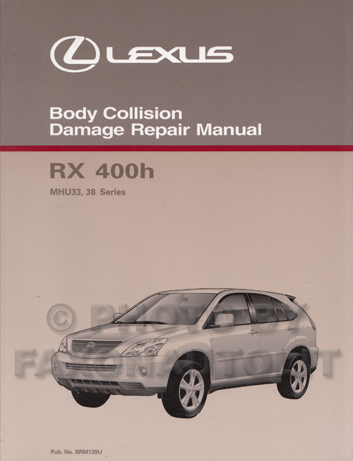 2006 Lexus Rx 400h Navigation System Owners Manual Original