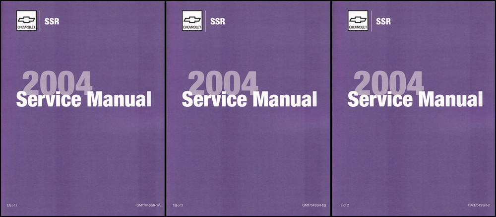 2004 Chevrolet SSR Repair Shop Manual Factory Reprint 3 volume set