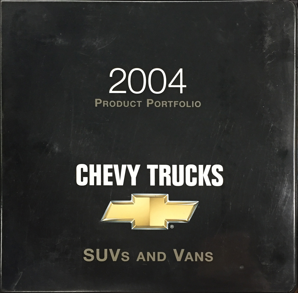 2004 Chevrolet SUV & Van Color & Upholstery Dealer Album/Data Book Original