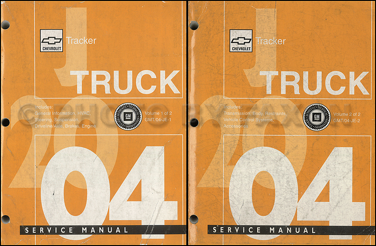 2003 Chevy Tracker Repair Manual Original 2 Volume Set