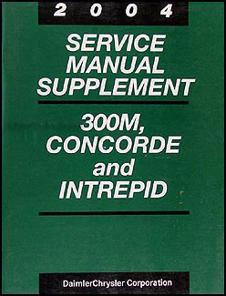 2004 300M, Concorde, Intrepid 2.7L Engine Repair Shop Manual Orig. Supplement