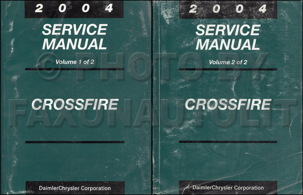 2004 Chrysler Crossfire Repair Manual Set Original