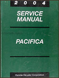 2004 Chrysler Pacifica Shop Manual Original
