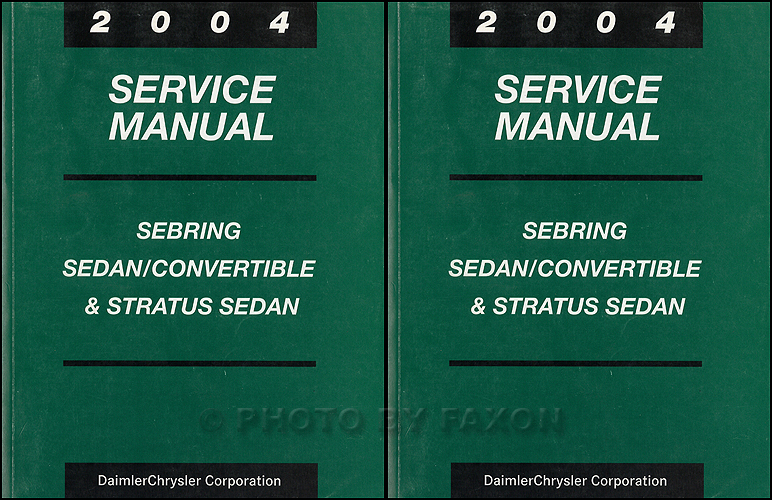 2004 Stratus and Sebring Sedan and Convertible Repair Shop Manual Set Original