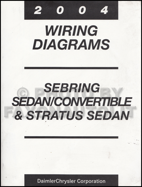 2004 Mopar Stratus Sebring Sedan/Covertible Wiring Diagram Manual Original