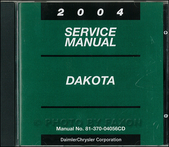 2003 Dodge Dakota CD-ROM Shop Manual Original