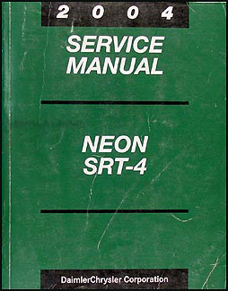 2004 Dodge Neon SRT-4 Shop Manual Original