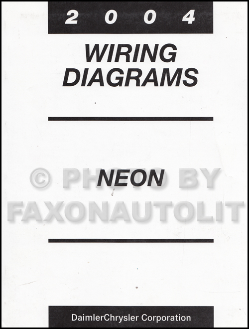 2004 Dodge Neon Wiring Diagram Manual Original