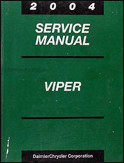 2004 Dodge Viper Repair Manual Original