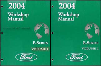 2004 Ford Econoline Van and Club Wagon Repair Shop Manual Set of 2 Original