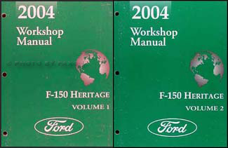 2004 Ford F-150 Heritage Repair Manual 2 volume set Original