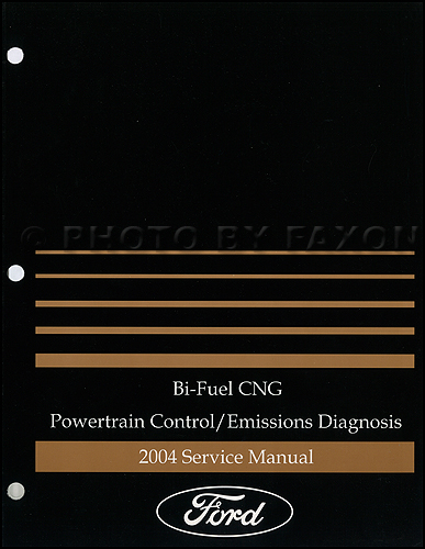 2004 Ford F-150 E-350 Bi-Fuel CNG Engine Emissions Diagnosis Manual Original