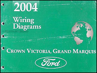 2004 Crown Victoria Grand Marquis Original Wiring Diagram Manual