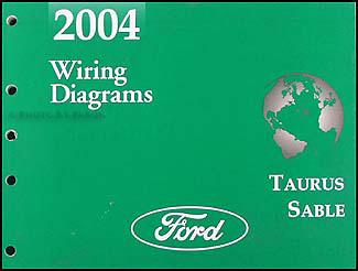 2004 Ford Taurus Mercury Sable Wiring Diagrams Manual Original