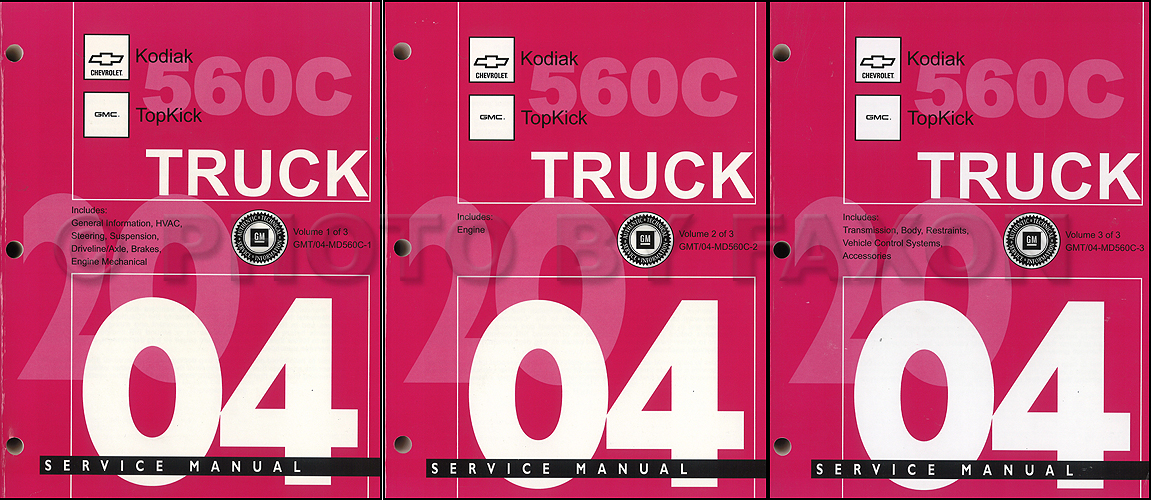 2004 Topkick & Kodiak C-4500-8500 Repair Shop Manual Original 3 Volume Set