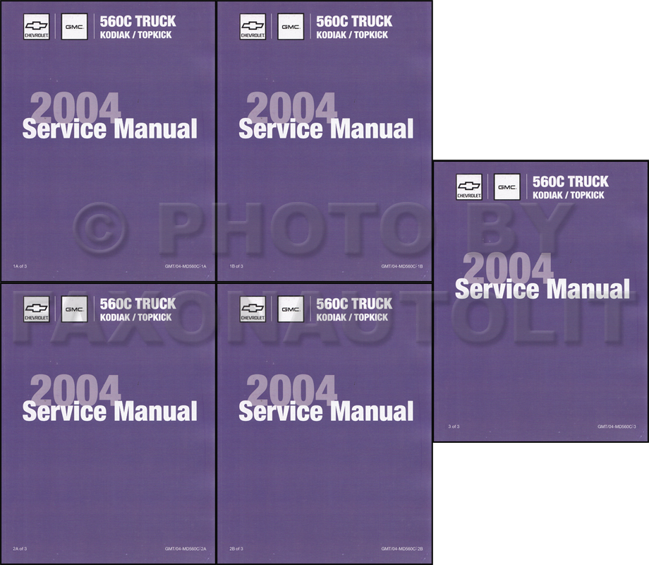 2004 Topkick & Kodiak C-4500-8500 Repair Shop Manual Factory Reprint Set