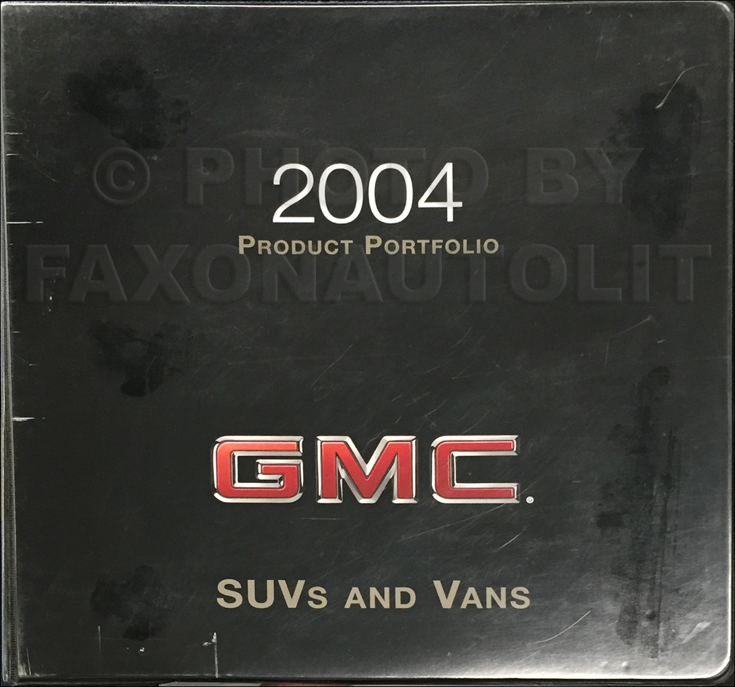 2004 GMC SUV & Van Color & Upholstery Dealer Album/Data Book Original