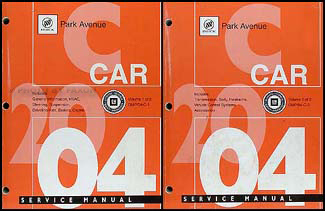 2004 Park Avenue Repair Manual Original 2 Volume Set
