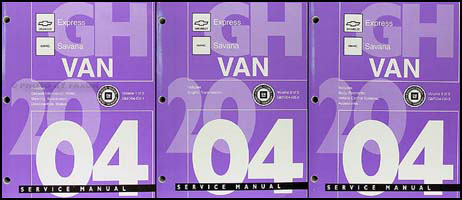 2004 Express & Savana Repair Manual 3 Volume Set Original