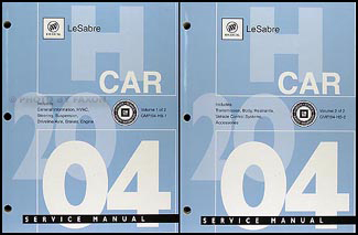 2004 Buick LeSabre Repair Manual Original 2 Volume Set