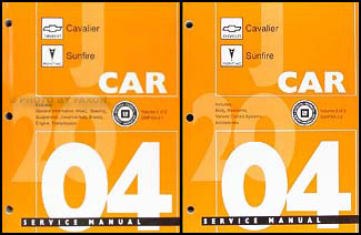 2004 Cavalier & Sunfire Repair Manual Original 2 Volume Set