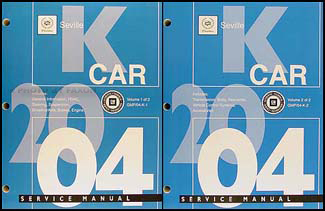2004 Cadillac Seville Repair Manual Original 2 Volume Set
