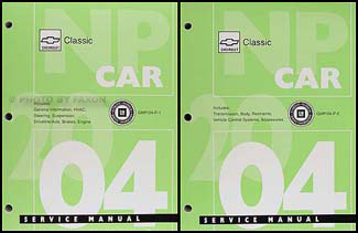 2004 Chevrolet Classic Service Manual Original
