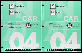 2004 Grand Am/Alero Repair Shop Manual Original 2 Volume Set