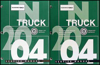 2004 Hummer H2 Repair Manual 2 Volume Set Original