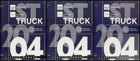 2004 Colorado and Canyon Repair Manual Original 3 Volume Set
