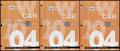 2004 Buick Regal and Century Repair Manual Original 3 Volume Set