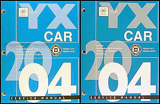 2004 Cadillac XLR Repair Manual Original 2 Vol. Set