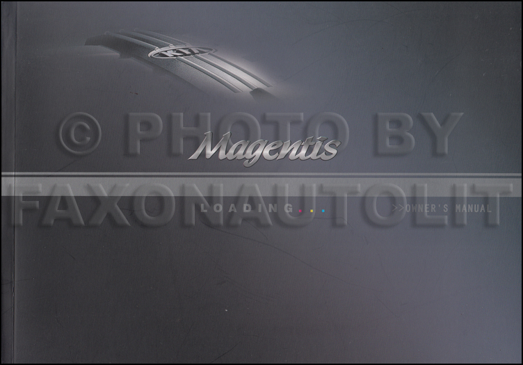 2004 Kia Magentis Owners Manual Original Canadian
