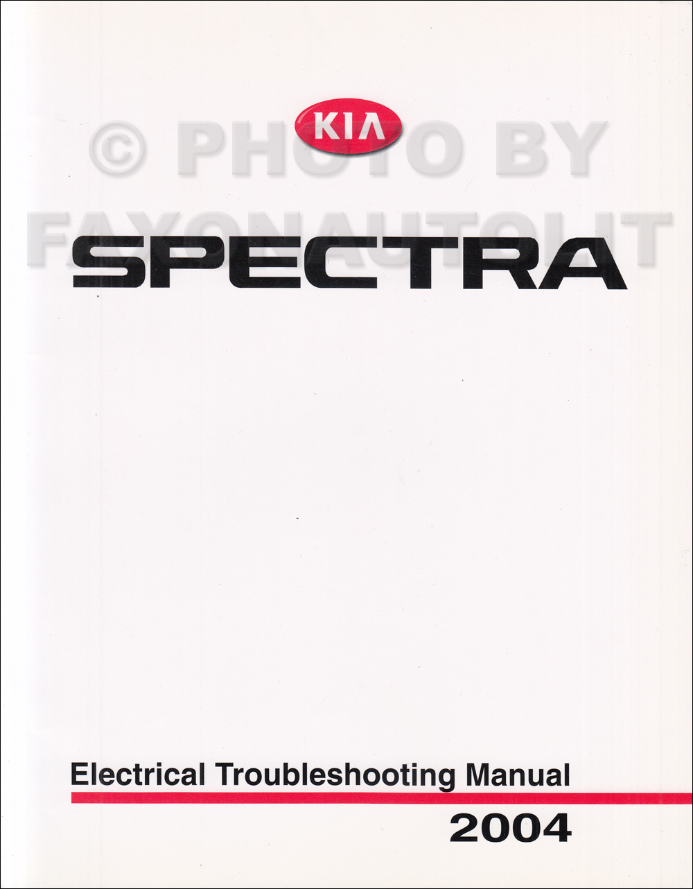 2004 Kia Spectra Electrical Troubleshooting Manual Original