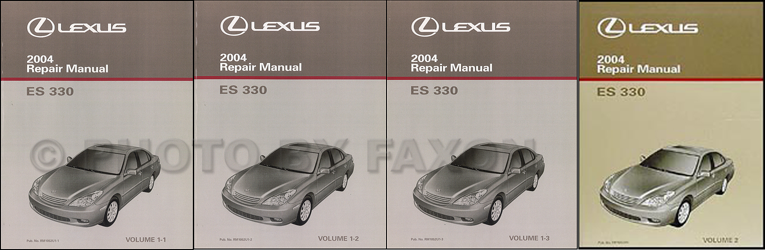 2004 Lexus ES 330 Repair Manual Original 2 Volume Set