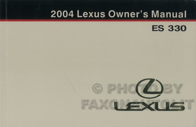 2004 lexus es 330 wiring diagram manual original 2004 lexus es 330 owners manual original