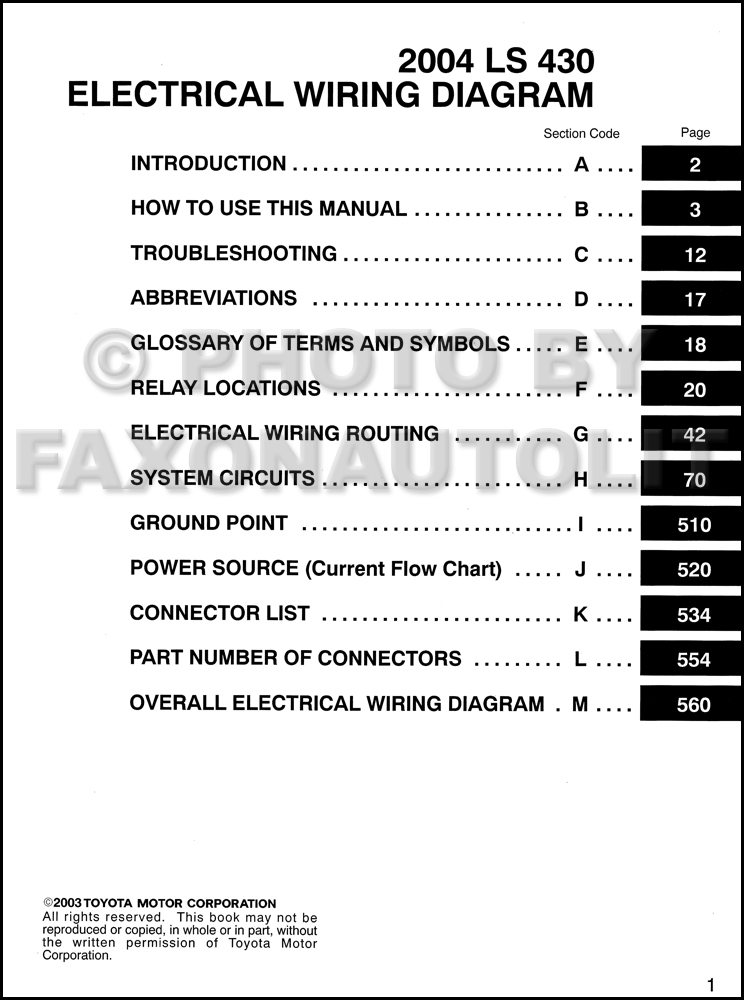 2004 Lexus Ls 430 Wiring Diagram Manual Originalrhfaxonautoliterature: Lexus Ls430 Wiring Diagrams At Gmaili.net
