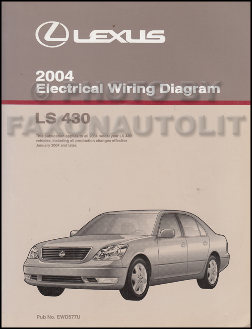 2002 Lexus Ls 430 Wiring Diagram Manual Original