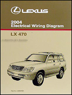 2004 Lexus LX 470 Wiring Diagram Manual Original