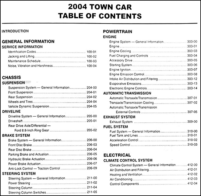 2004 Lincoln Town Car Repair Shop Manual Originalrhfaxonautoliterature: 2004 Lincoln Town Car Wiring Diagram At Gmaili.net