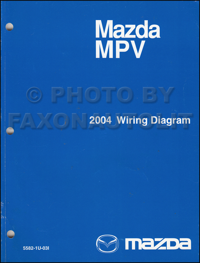2004 Mazda Mpv Repair Shop Manual Original