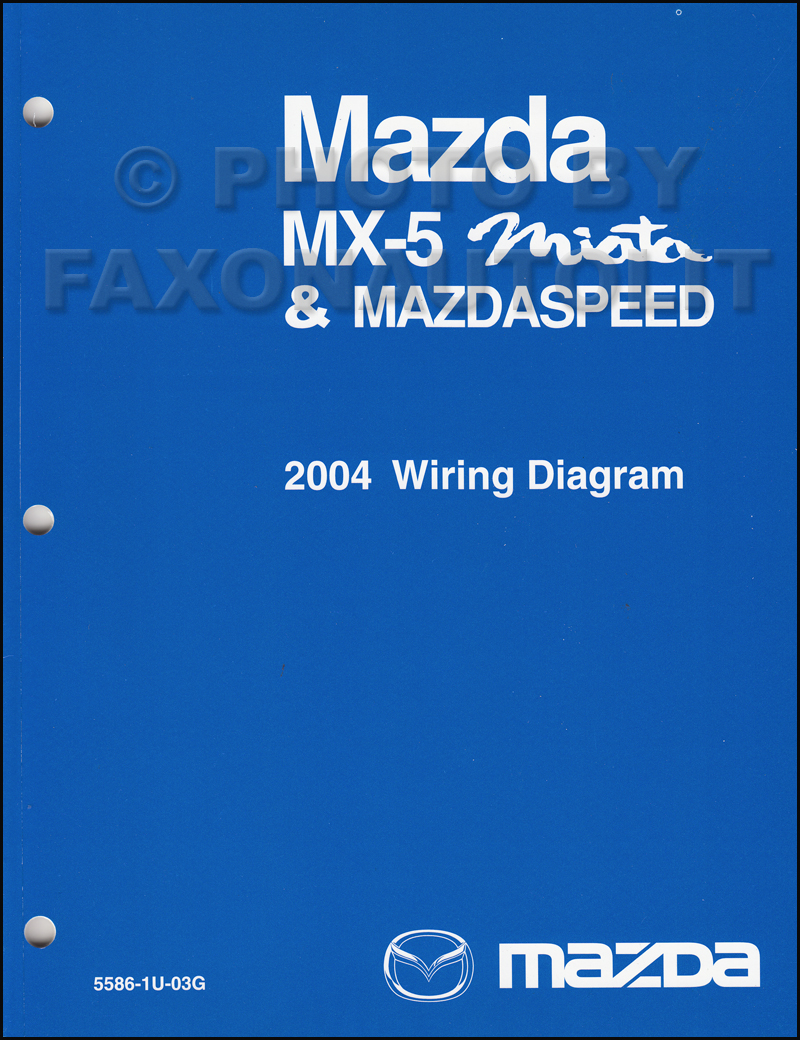 2004 Mazda MX-5 Miata Mazdaspeed Wiring Diagram Manual Original