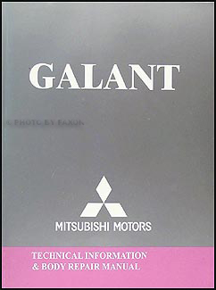 2004-2011 Mitsubishi Galant Body Manual Original